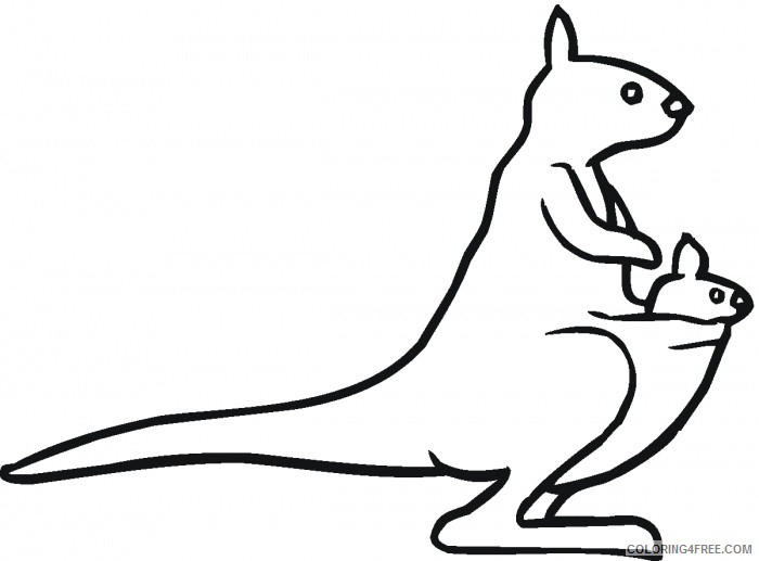 Kangaroo Outline Coloring Pages kangaroo outline n6TwO8 jpg Printable Coloring4free