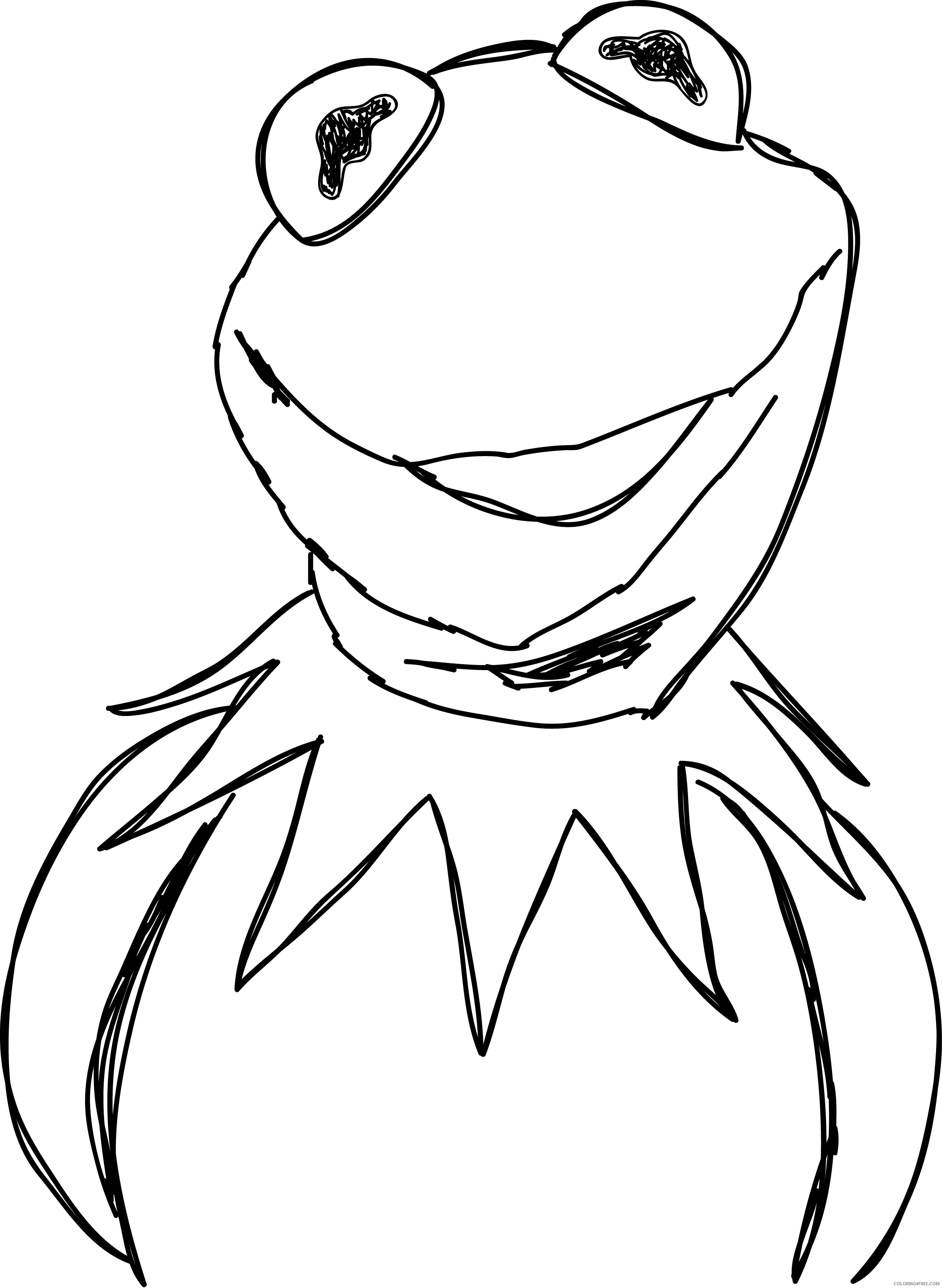 Kermit the Frog Coloring Pages kermit the frog art clipart Printable Coloring4free