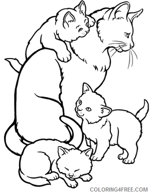 Cat to download : cat on pillow - Cats Kids Coloring Pages | 390x301