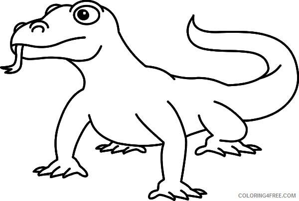Komodo Dragon Coloring Pages komodo dragon 15 Printable Coloring4free