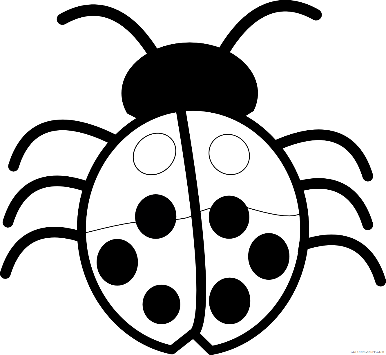 Ladybug Outline Coloring Pages ladybug outline Printable Coloring4free