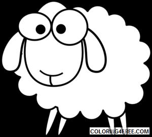 Lamb Coloring Pages sheep lamb black and Printable Coloring4free