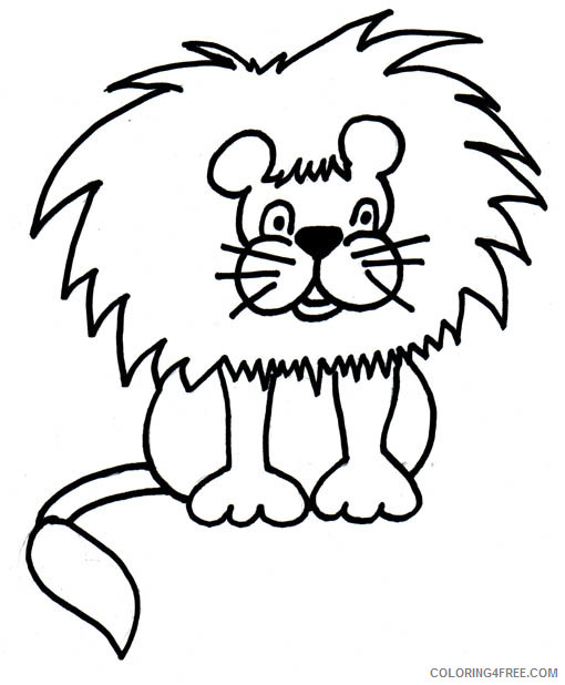 Lion Coloring Pages of Printable Coloring4free