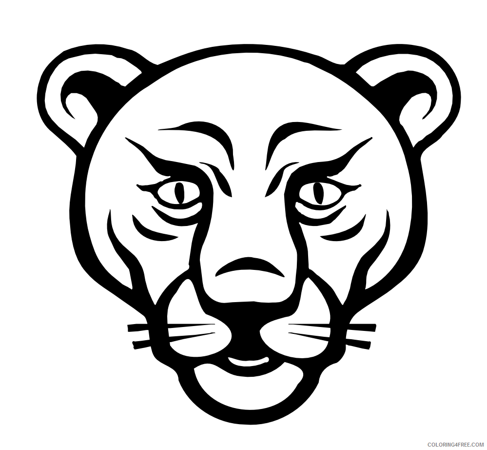 Lion Face Coloring Pages baby lion face Printable Coloring4free