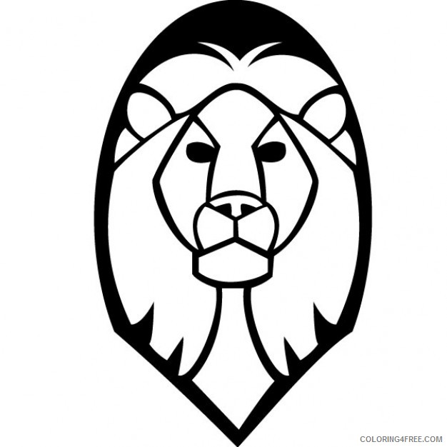 Lion Head Coloring Pages lion head 4 jpg Printable Coloring4free
