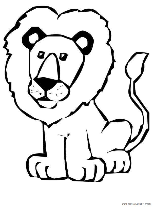 Lion Outline Coloring Pages Lion star Printable Coloring4free