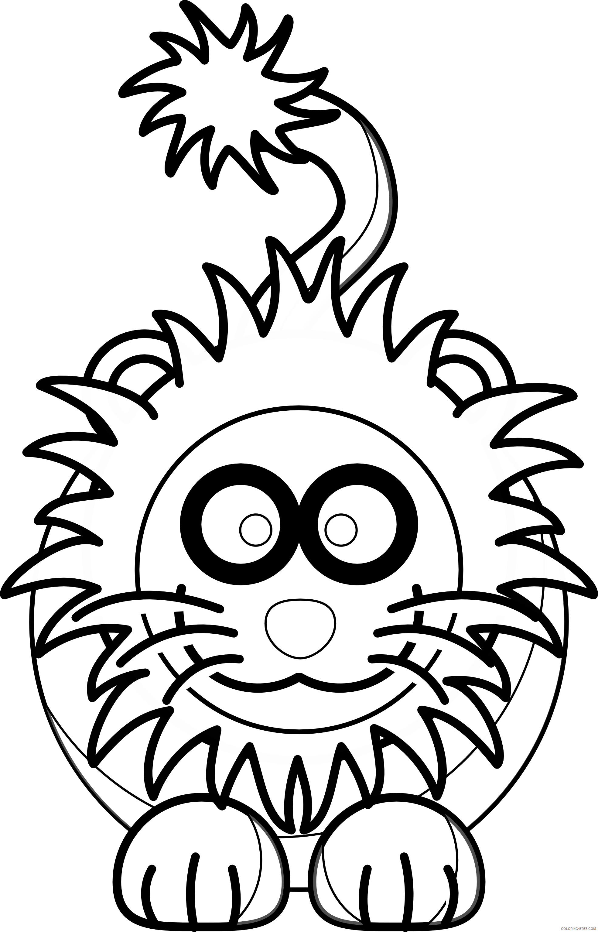 Lion Outline Coloring Pages lion 78 png Printable Coloring4free
