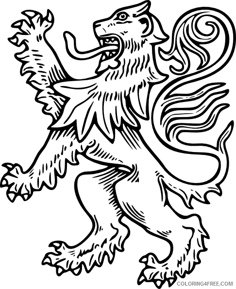 Lion Outline Coloring Pages lion Printable Coloring4free