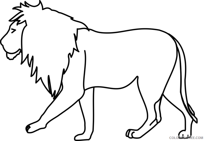 Lion Outline Coloring Pages lion outline drawing jvBjIn clipart Printable Coloring4free