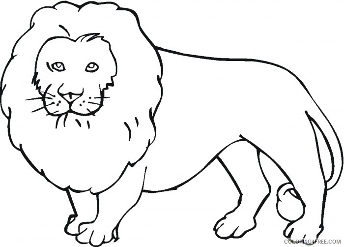 Lion Outline Coloring Pages Lions Super Coloring Printable Coloring4free Coloring4free Com