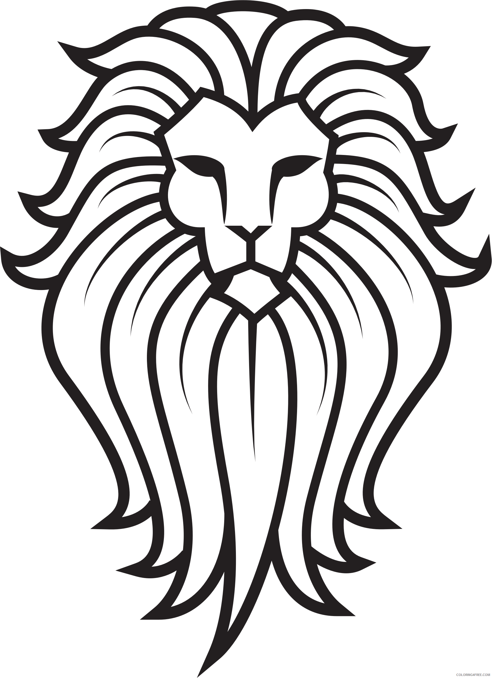 Lion Tattoo Coloring Pages lion face tattoo Printable Coloring4free