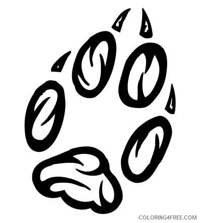Lion Tattoo Coloring Pages lion paw tattoo best Printable Coloring4free