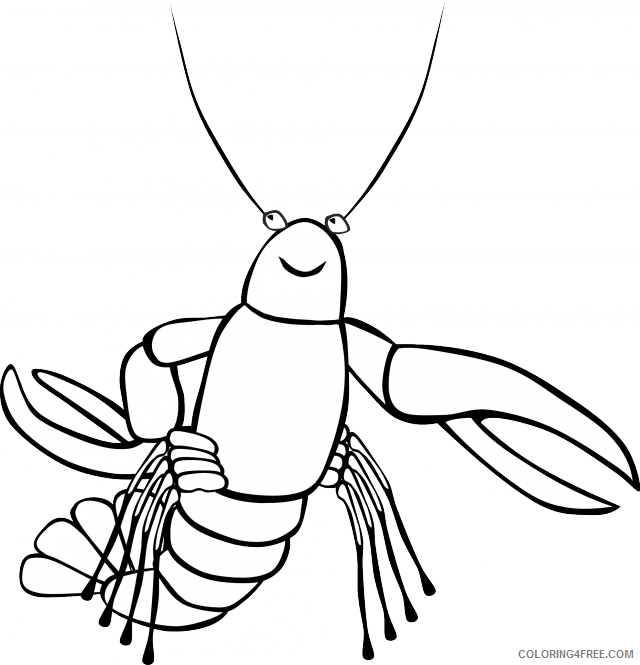 Lobster Outline Coloring Pages lobster Printable Coloring4free