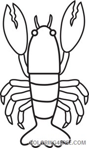 Lobster Outline Coloring Pages lobster image lobster Printable Coloring4free