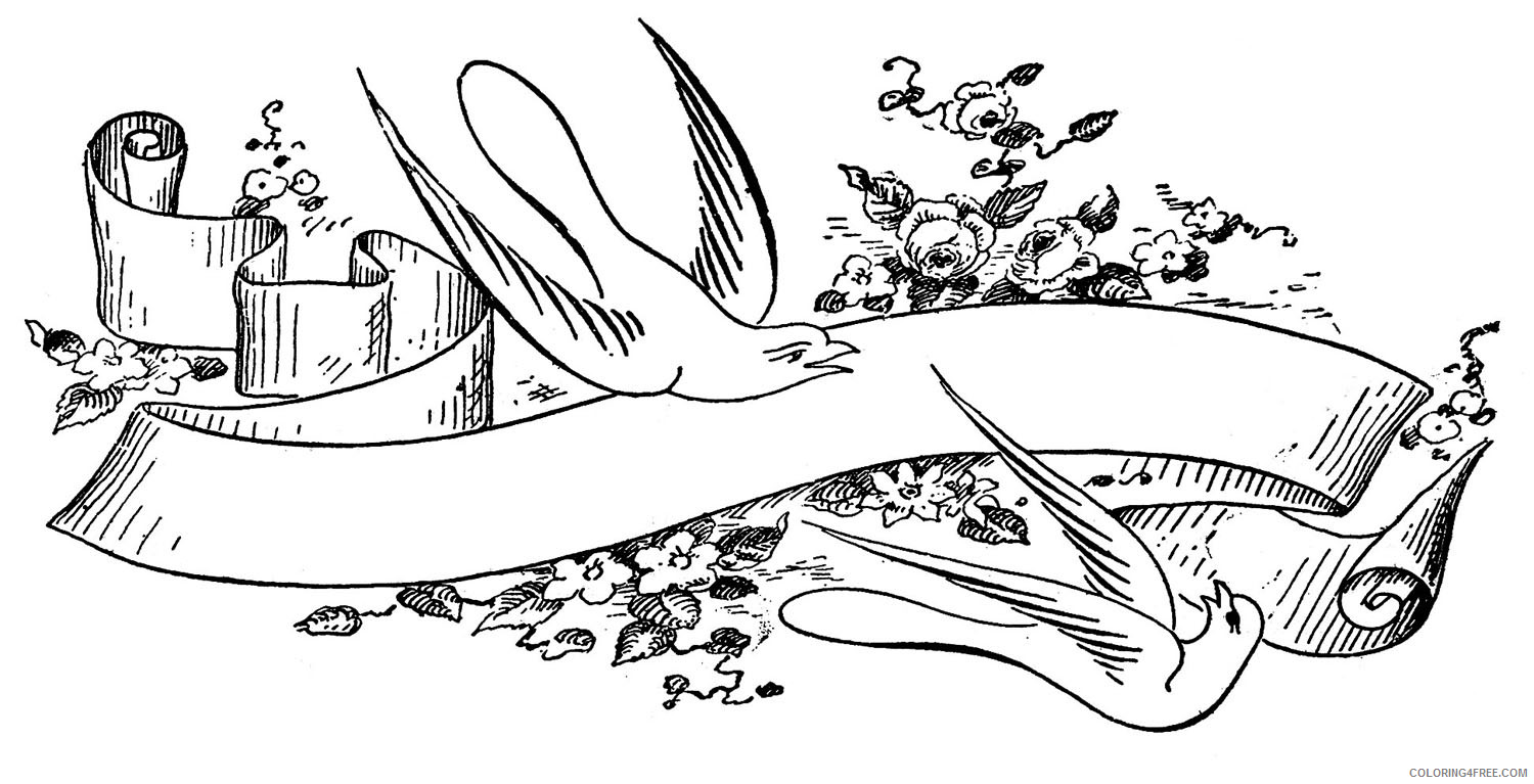 Love Birds Coloring Pages vintage love bird 42761 Printable Coloring4free