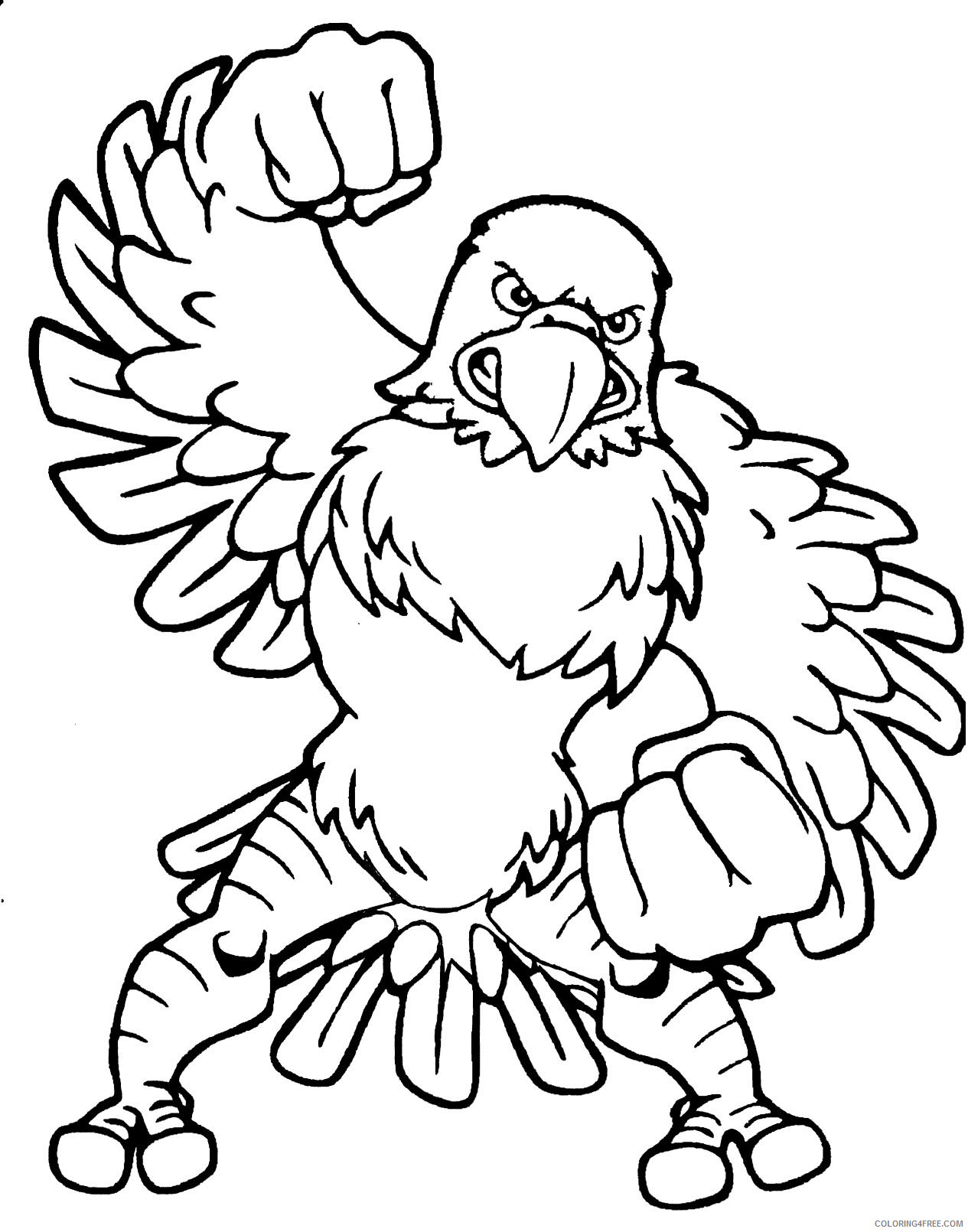 Mascot Eagles Coloring Pages eagle mascot free cliparts Printable Coloring4free