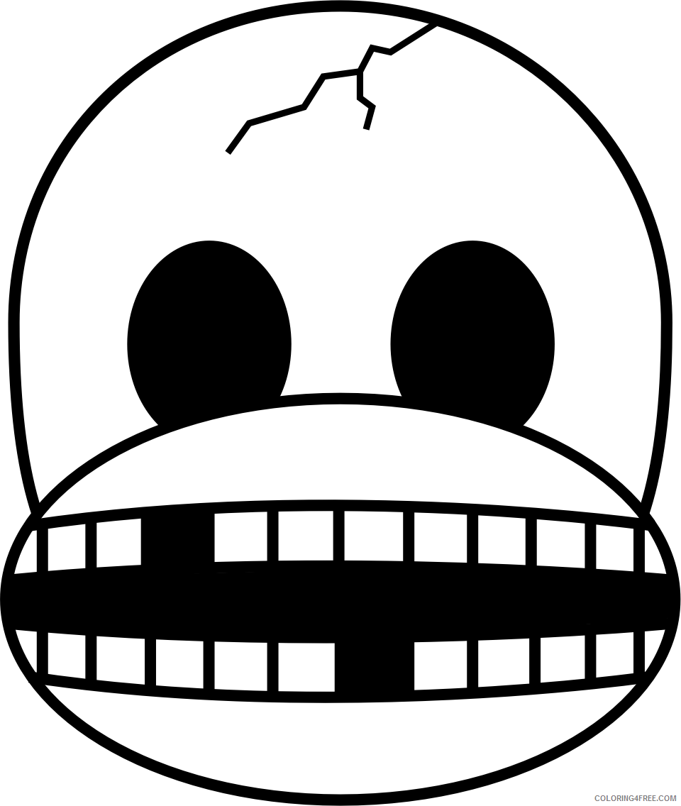Monkey Emojis Coloring Pages monkey emojis 22 Printable Coloring4free