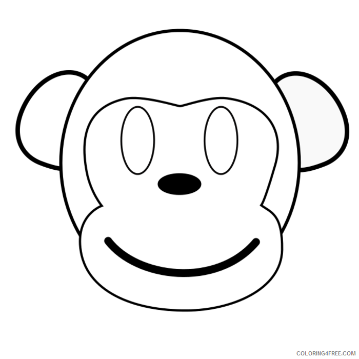 Monkey Outline Coloring Pages monkey outline image search results Printable Coloring4free