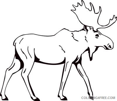 Moose Outline Coloring Pages mascots moose jpg Printable Coloring4free