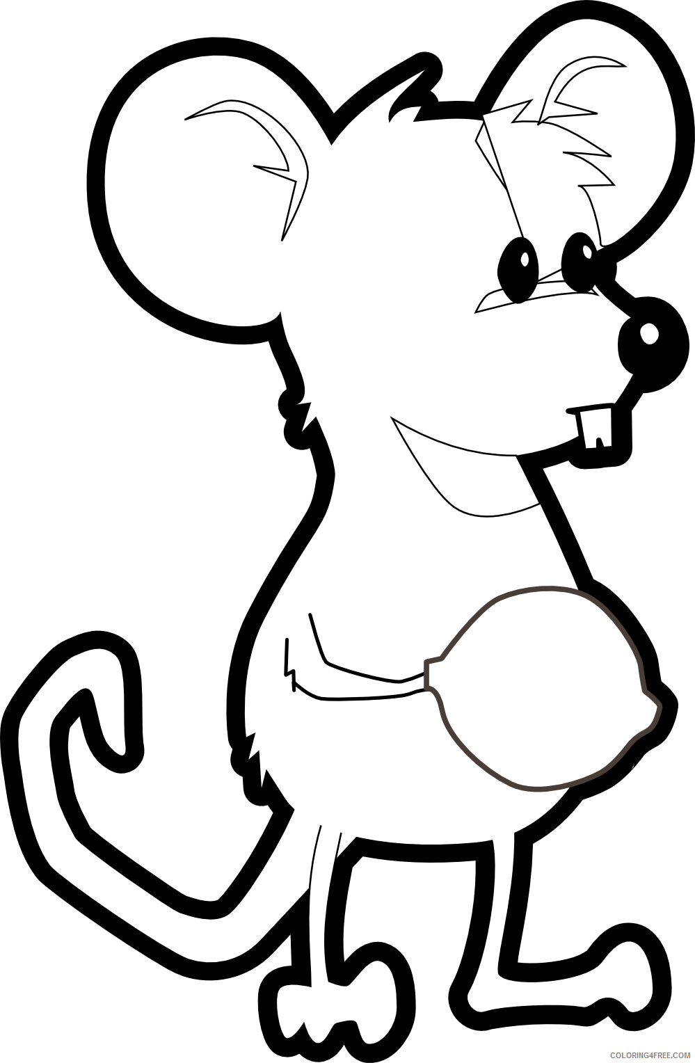 Mouse Outline Coloring Pages leg Printable Coloring4free