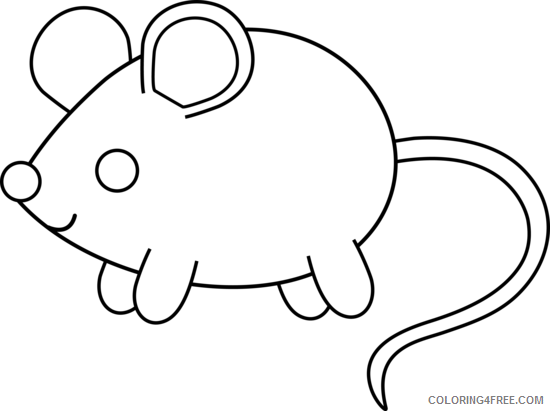 Mouse Outline Coloring Pages mouse Printable Coloring4free