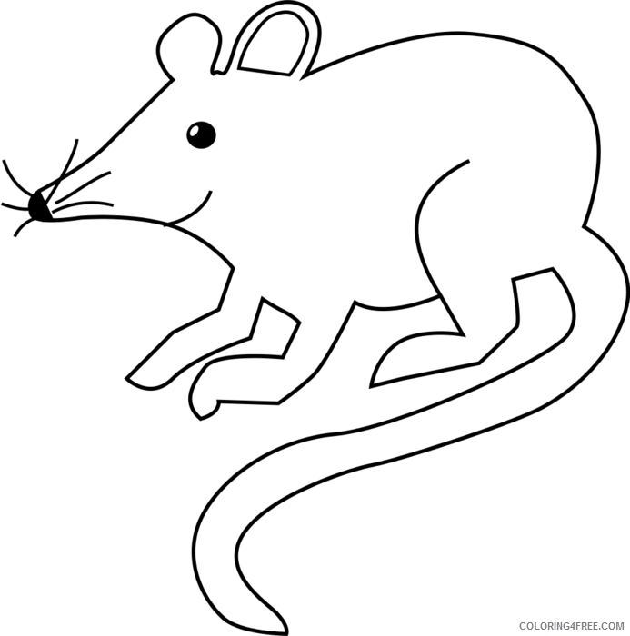 Mouse Outline Coloring Pages mouse U94Ebq png Printable Coloring4free