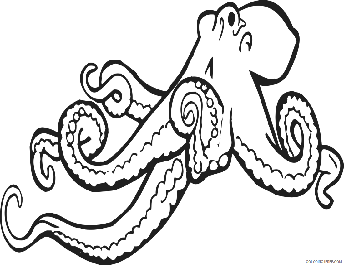 Octopus Coloring Book Coloring Pages com education animals Printable Coloring4free