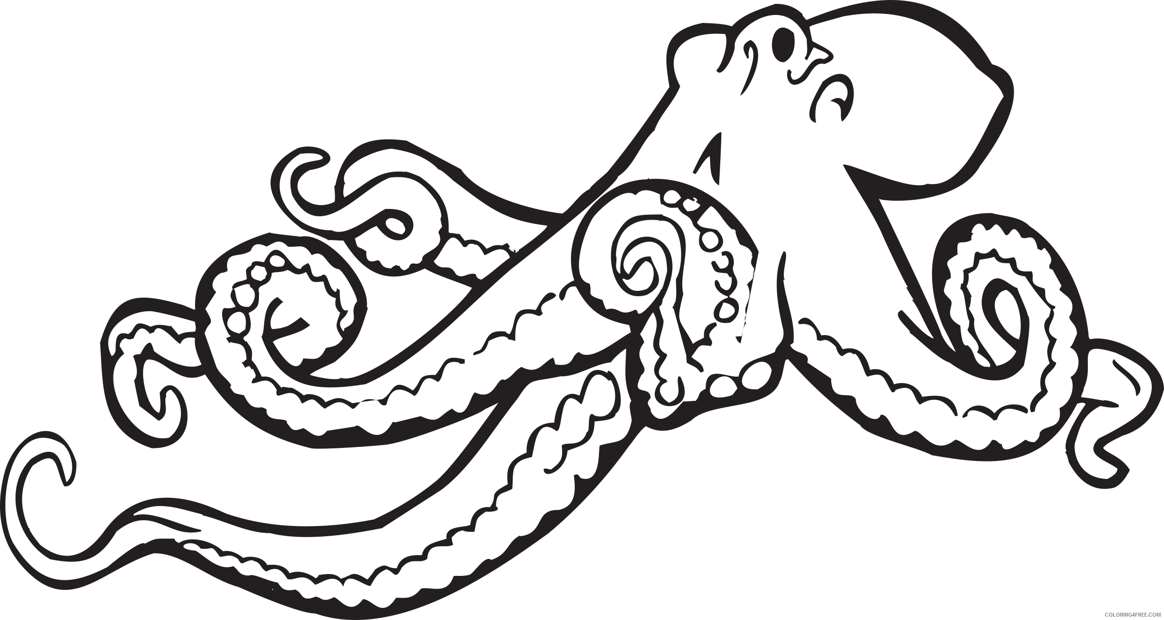 Octopus Coloring Book Coloring Pages fundraw dot com book Printable Coloring4free