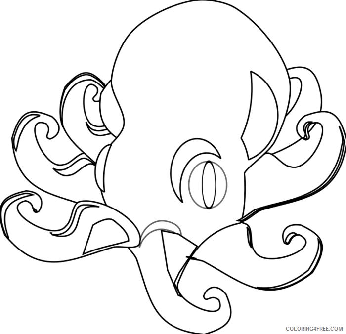 Octopus Outline Coloring Pages octopus Printable Coloring4free