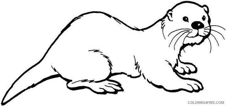 Otter Coloring Pages otter 101 jpg Printable Coloring4free