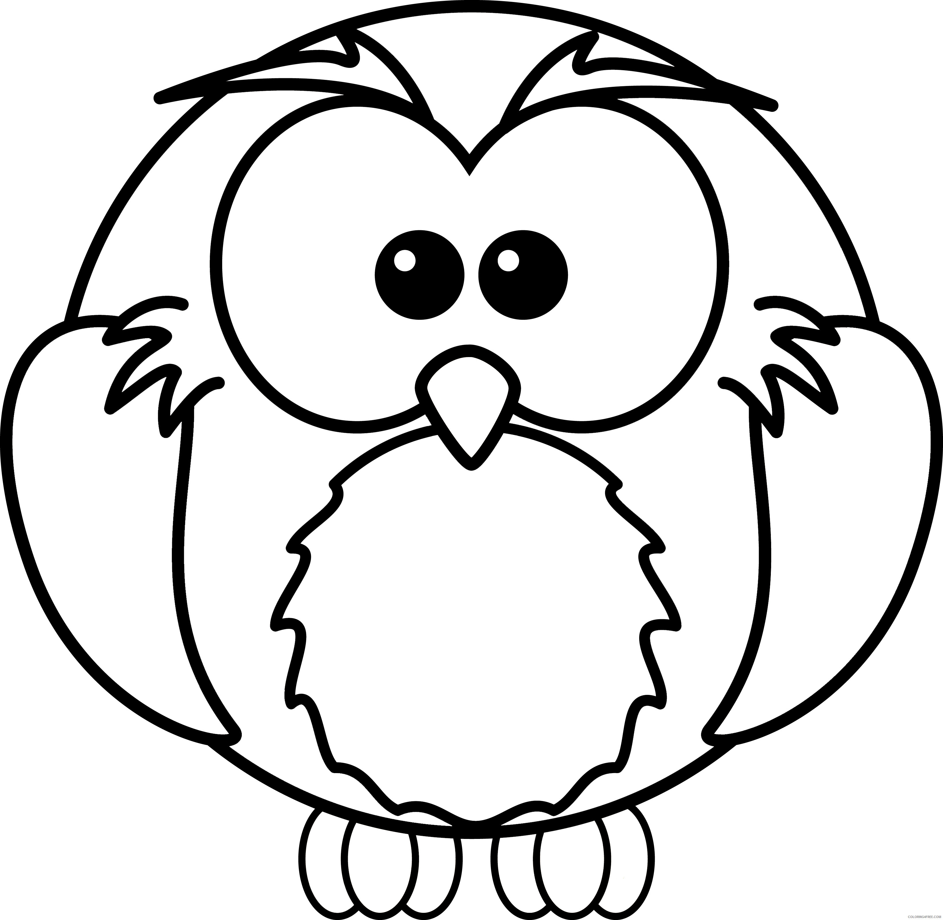 Owl Coloring Pages Coloring Pages owl 1 Printable Coloring4free