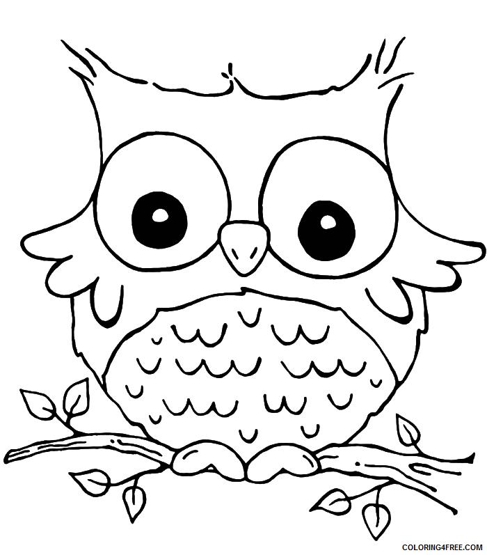 Owl Coloring Pages Coloring Pages owl color az coloring Printable Coloring4free