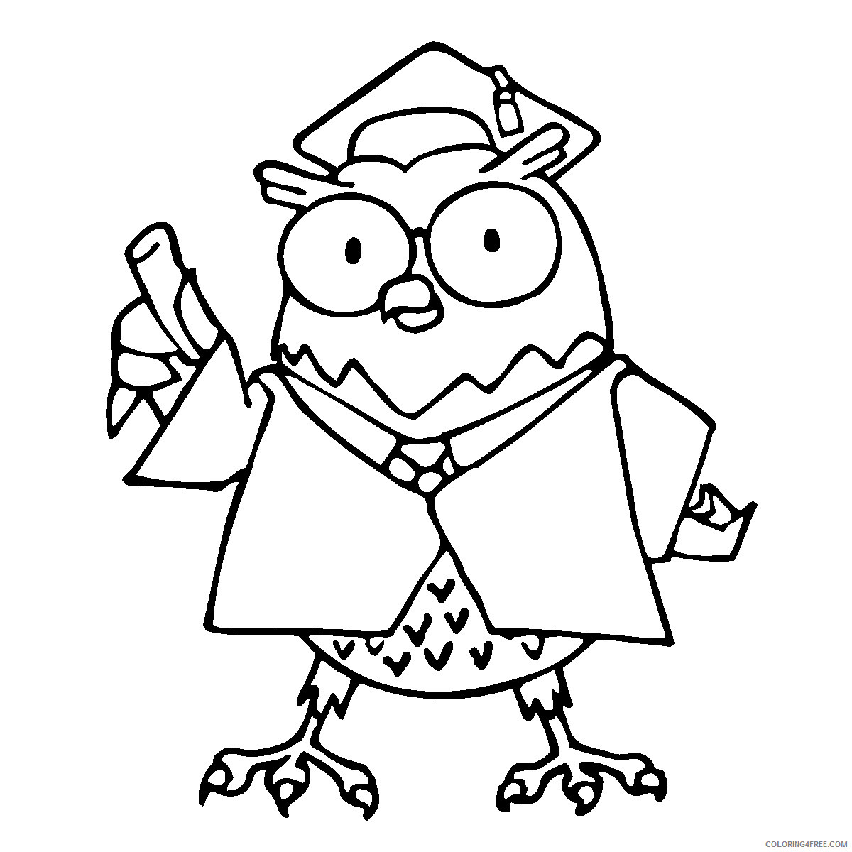 Owl Coloring Pages Coloring Pages owl free printable Printable Coloring4free