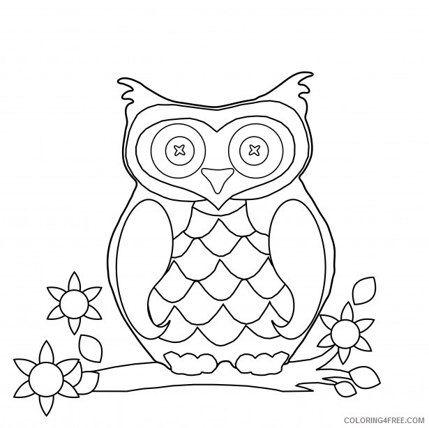 Owl Coloring Pages Coloring Pages owl page free Printable Coloring4free