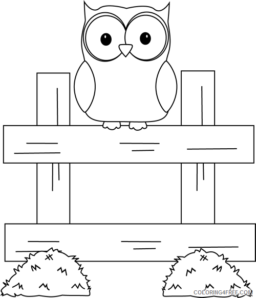 Owl Outline Coloring Pages farm owl Printable Coloring4free