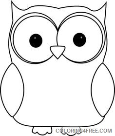 Owl Outline Coloring Pages images of owls black Printable Coloring4free