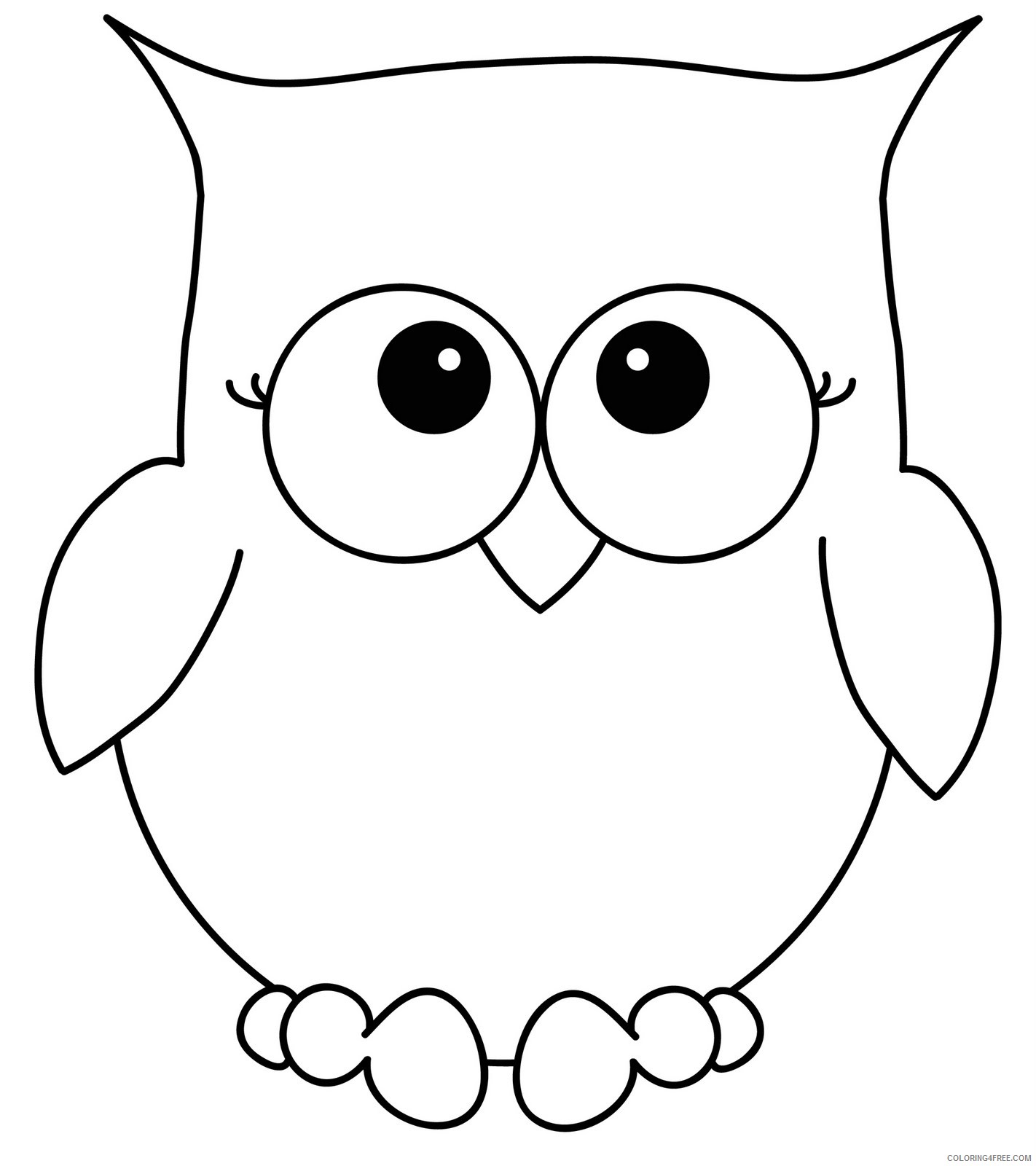 Owl Outline Coloring Pages lost in paper scraps free Printable Coloring4free