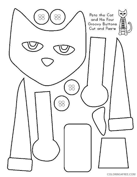 Pete The Cat Coloring Pages Pete The Cat More Cat Printable Coloring4free Coloring4free Com