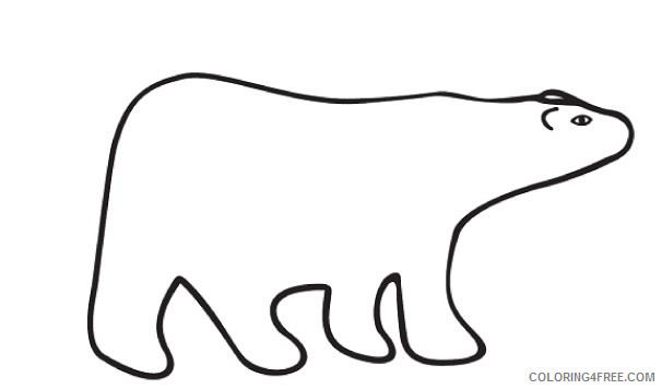 Polar Bear Coloring Pages polar bear black Printable Coloring4free