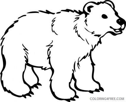 Polar Bear Coloring Pages polar bear black Printable Coloring4free