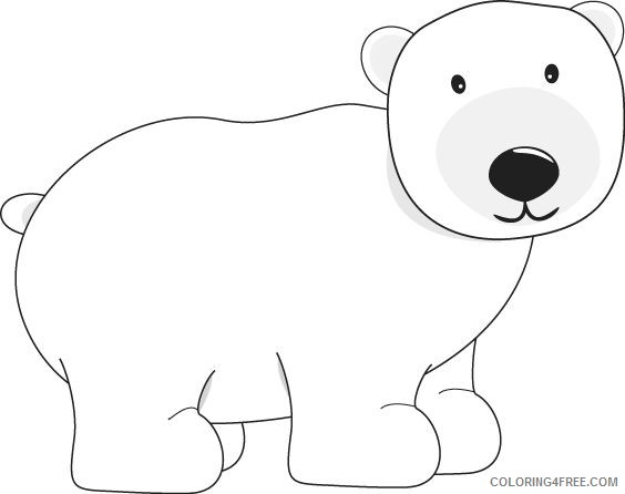 - Polar Bear Coloring Pages Polar Bear Free 58a0dcdec8635 Printable  Coloring4free - Coloring4Free.com