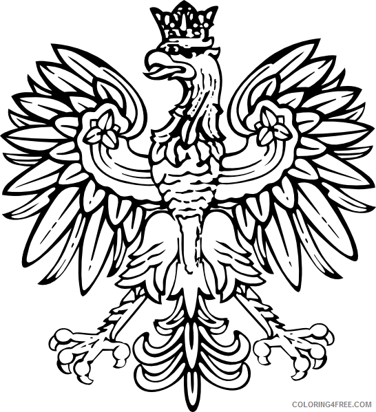 Polish Eagle Coloring Pages polish eagle at Printable Coloring4free
