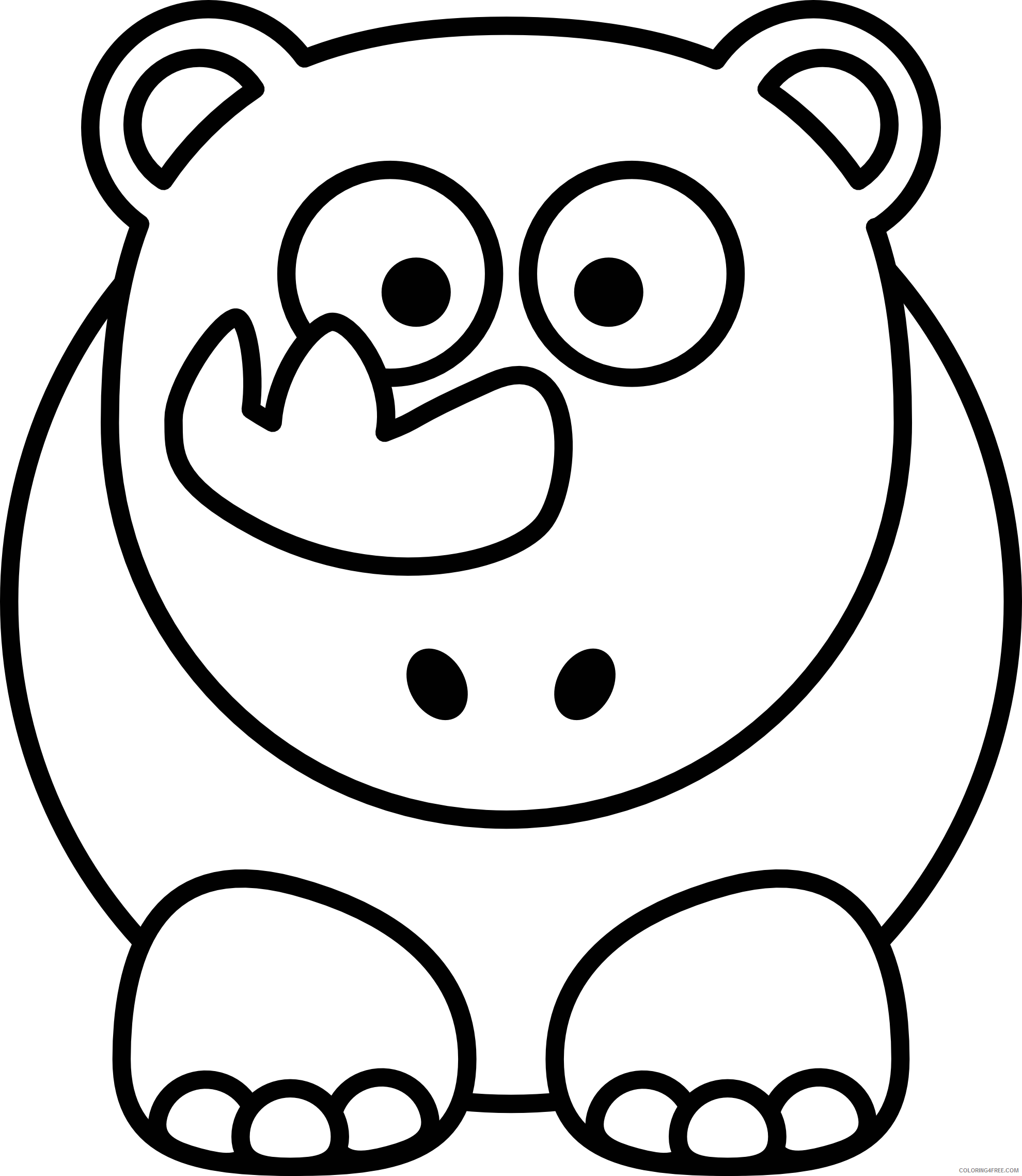 Quality Black and White Animals Coloring Pages animal 18 png Printable Coloring4free