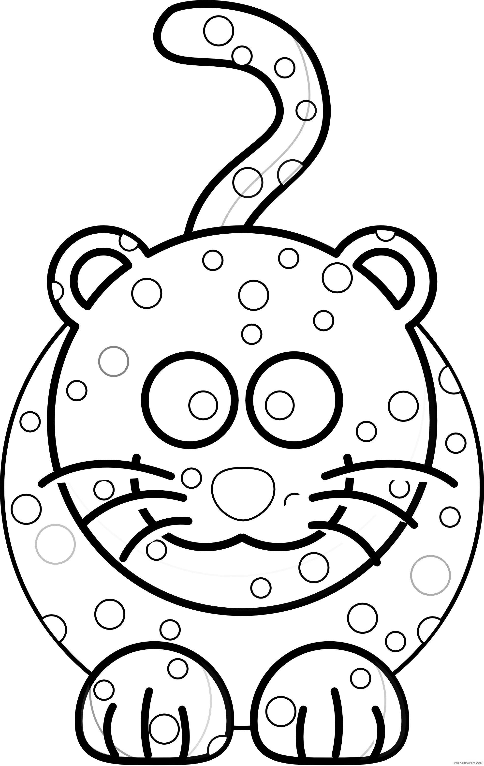 Quality Black and White Animals Coloring Pages stuffed animal best Printable Coloring4free