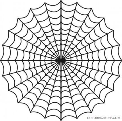 Spider Web Coloring Pages Spider Web Spiders Web Clip Printable Coloring4free Coloring4free Com