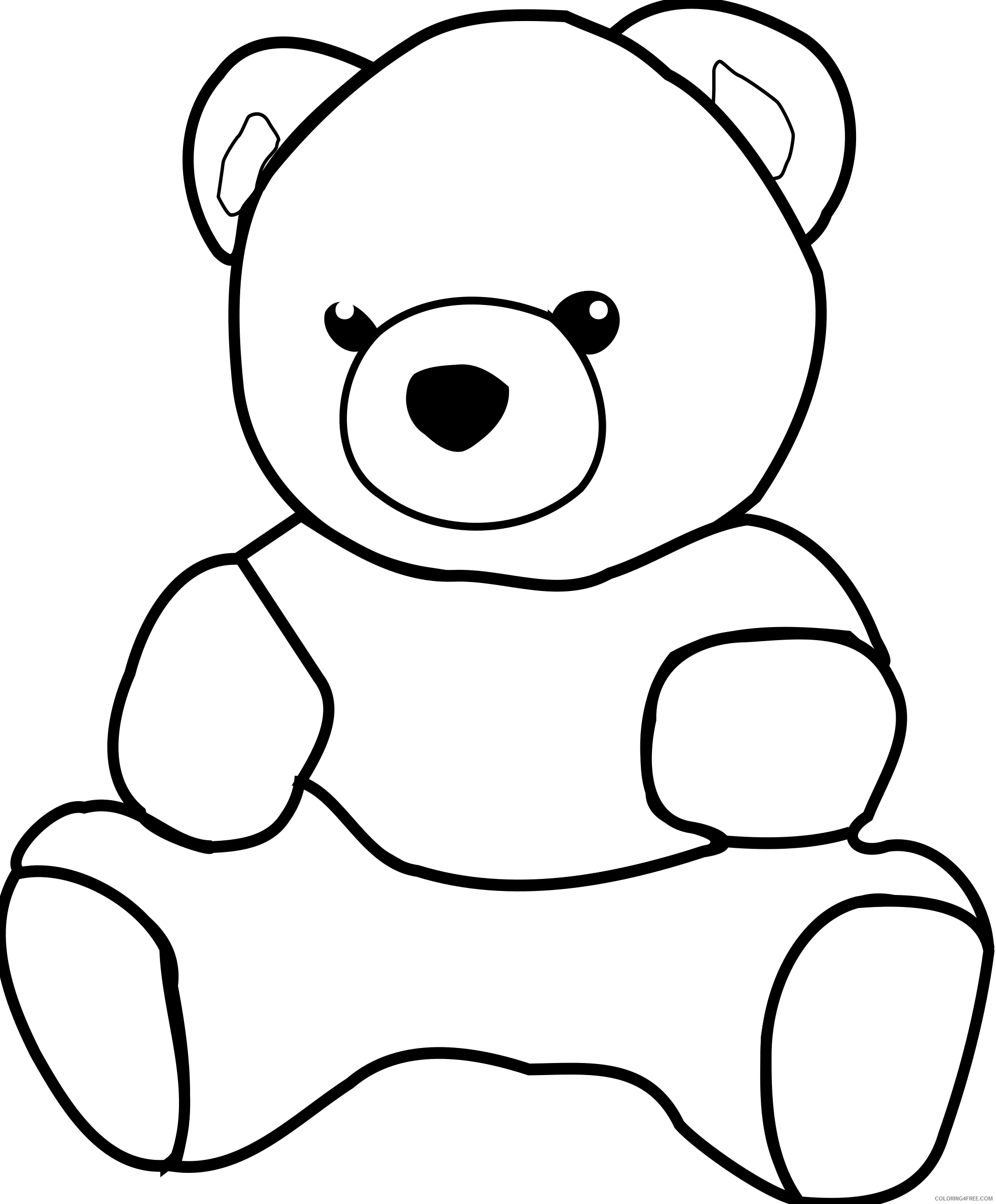 Teddy Bear Coloring Pages Dkdlv Teddy Bear Bpng Printable Coloring4free Coloring4free Com