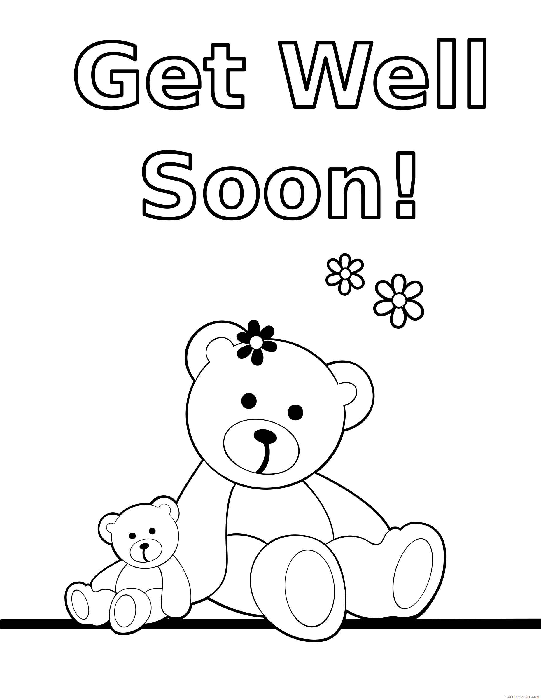 Teddy Bear Coloring Pages teddy bears black white Printable Coloring4free