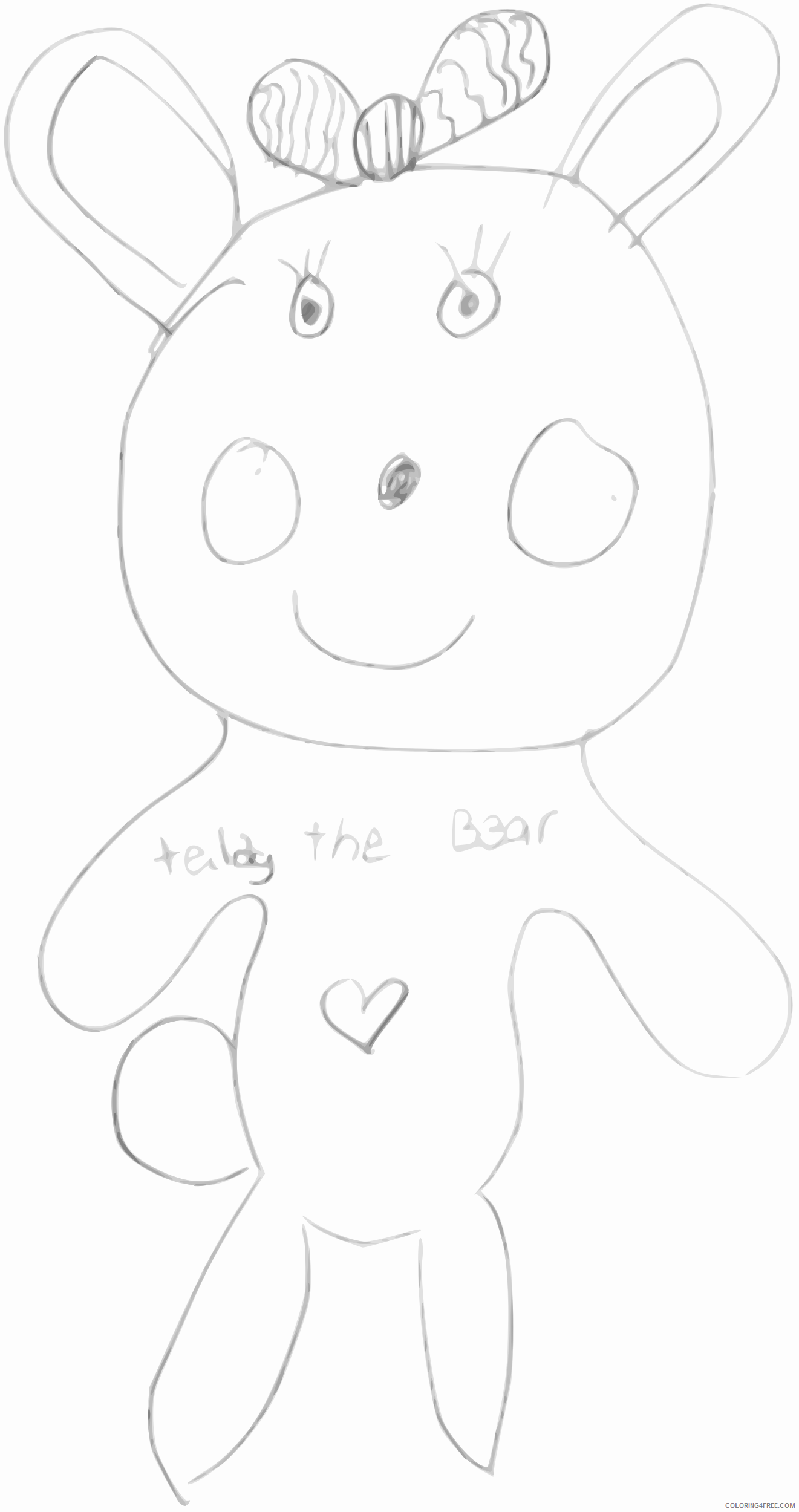 Teddy Bear Coloring Pages teddy the bear 25 Printable Coloring4free