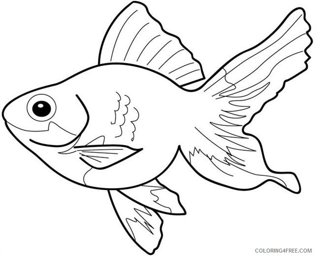 Tropical Fish Coloring Pages Fish tropical fish Printable Coloring4free