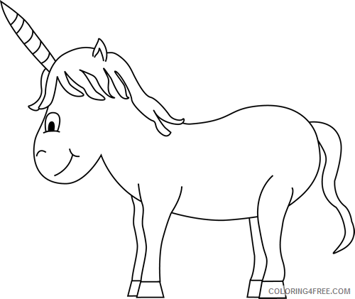 Unicorn Outline Coloring Pages Unicorn Qv6r1f Printable Coloring4free Coloring4free Com